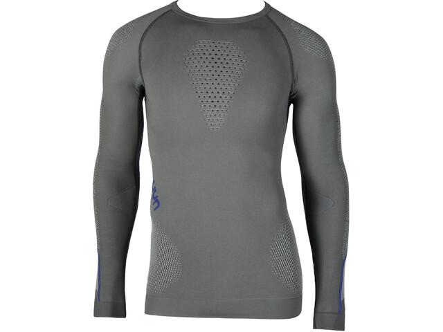 UYN Ambityon UW Koszulka z długim rękawem Mężczyźni, medium grey/blue/royal blue